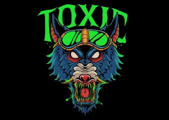 Toxic wolf ready made tshirt design