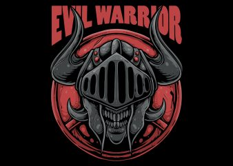 Evil warrior t-shirt design png