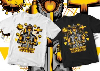 coronavirus design you can fight covid-19 t-shirt design for commercial use