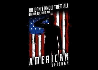 We Don't Know Them All – American Veteran shirt design png buy t shirt design artwork