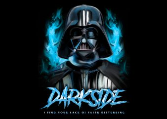 Darth Vader Darkside Painting Hand drawing artwork 80s buy t shirt design