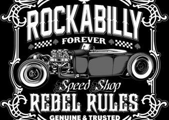 ROCKABILLY FOREVER buy t shirt design
