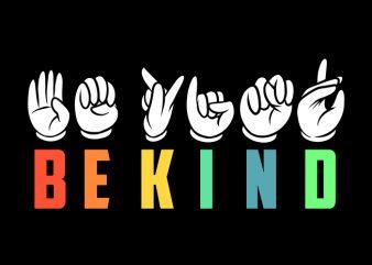 Be Kind t shirt design for download
