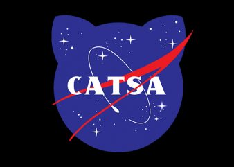 Cat Funny Catsa, Nasa Parody t shirt design for purchase
