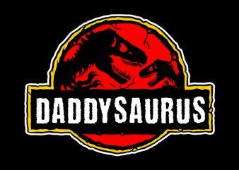 daddy saurus t shirt design template