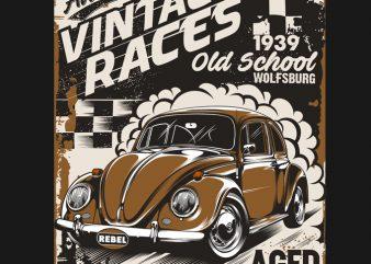 VINTAGE RACE 2 print ready t shirt design