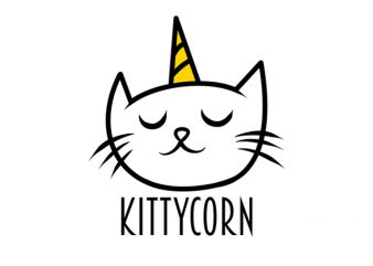 kittycorn cat funny shirt design png t shirt design for download