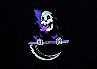 happy death graphic t-shirt design