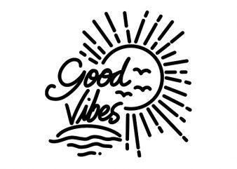 Good Vibes Sunshine graphic t-shirt design