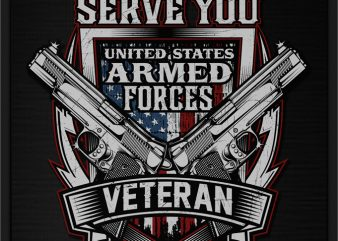 UNITED STATES ARMED FORCES VETERAN graphic t-shirt design