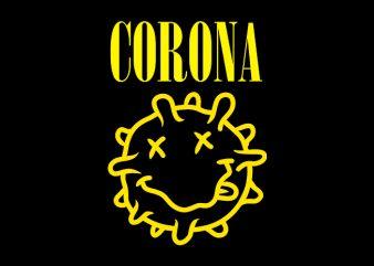 corona, nirvana parody design for t shirt t-shirt design png