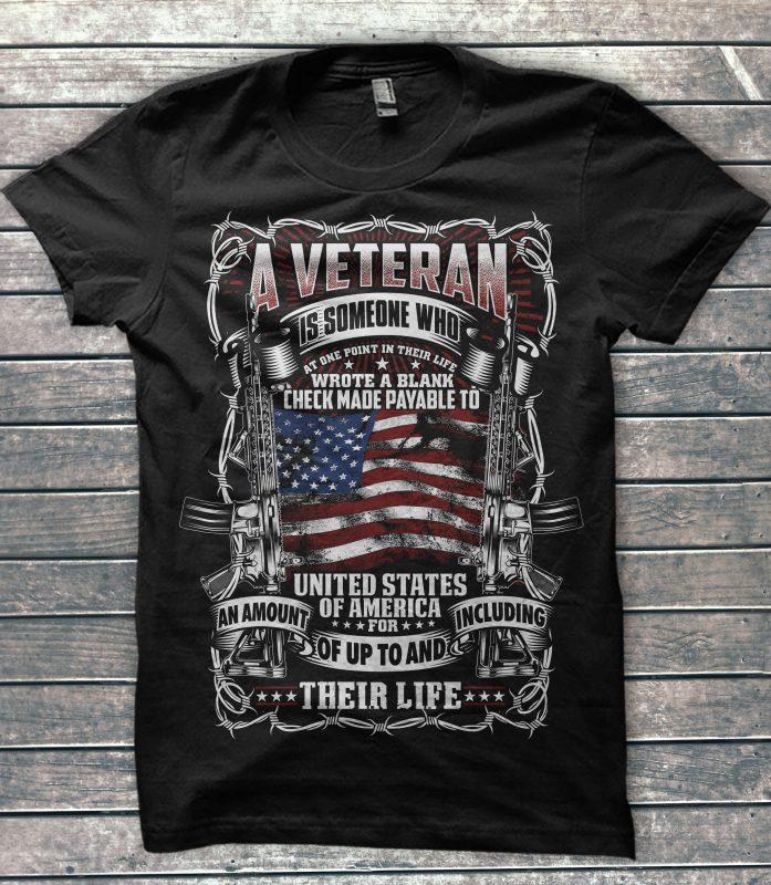 Big Sale American Veteran Bundle buy t shirt design