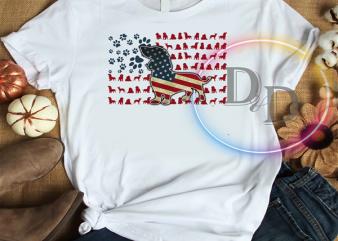 Dachshund Breed Dog America Flag Patriot 4th Of July Dog mix Flag PNG shirt design png