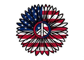 peace USA america ready made tshirt design