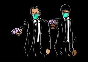 New Legal Guns, thermometer guns, coronavirus t shirt design template