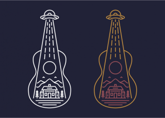 Alien Guitar buy t shirt design for commercial use