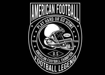 american football tshirt design