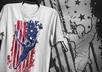 American lacrosse, t-shirt design