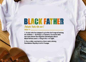 Black Father SVG, Father's Day SVG, Dad 2020 SVG, Funny SVG t-shirt design for sale