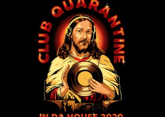 CLUB QUARANTINE shirt design png