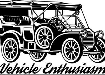 Classic car tshirt design
