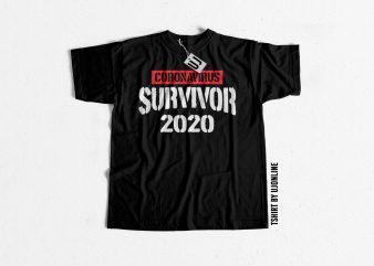 CoronaVirus Survivor 2020 t shirt design for purchase