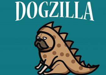 Dogzilla t-shirt design png