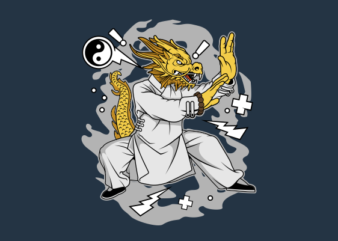 Dragon Kungfu shirt design png