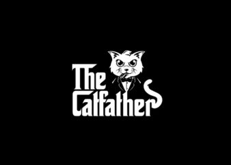 The Catfather T-Shirt Design
