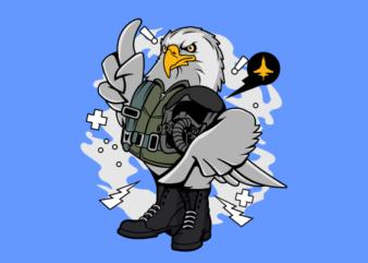 Eagle Pilot print ready t shirt design