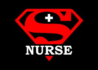 Super Nurse T-Shirt Design for Commercial Use