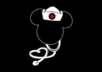 Disney Nurse T-Shirt Design for Commercial Use
