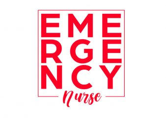 Emergency Nurse T-Shirt Design for Commercial Use