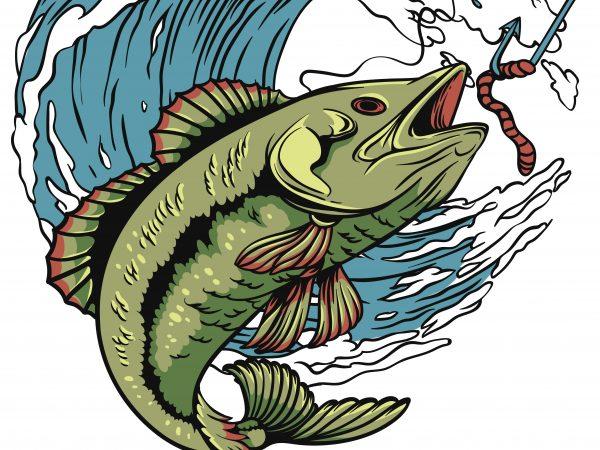 Fishing t shirt design to buy