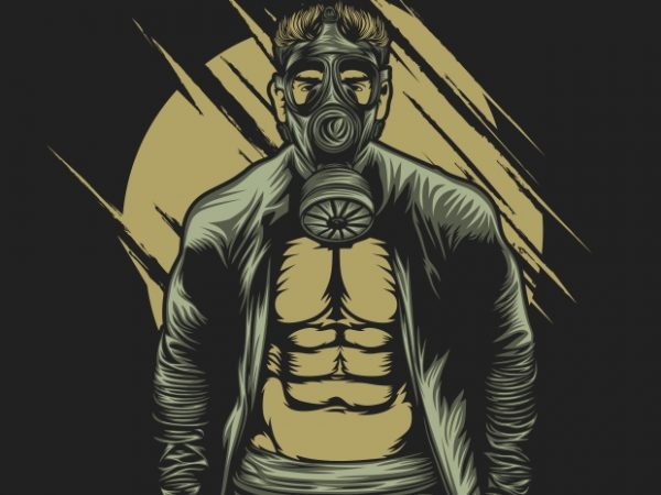Gas Mask Muscle buy t shirt design