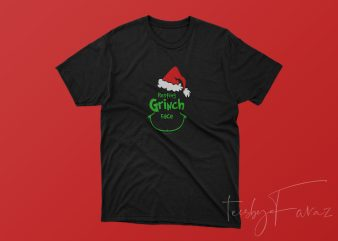 Resting Grinch Face t shirt design to buy