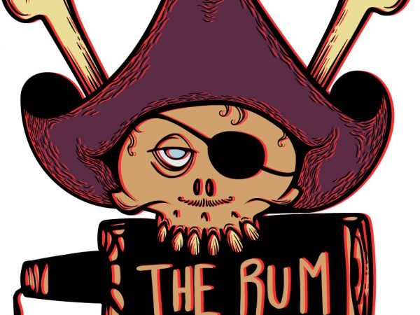 I'm the reason the rum is gone t-shirt design for sale