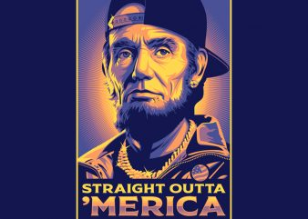 STRAIGHT OUTTA AMERICA buy t shirt design for commercial use