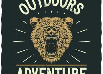 Outdoors Adventure buy t shirt design for commercial use