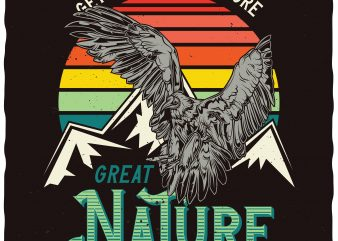 Great Nature commercial use t-shirt design