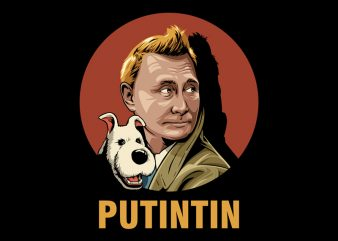 PUTINTIN t-shirt design for commercial use