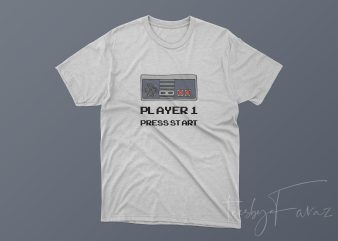 Player 1 Press Start buy t shirt design