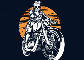 Ride Till Death t-shirt design for sale