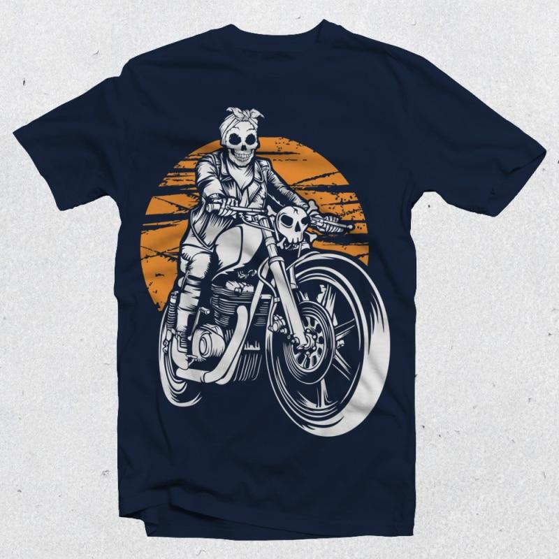 Ride Till Death t-shirt design for sale