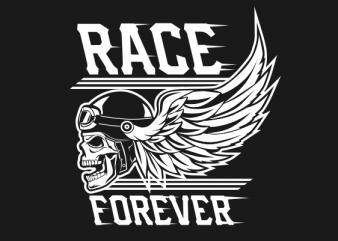 SKULL BIKER BLACK AND WHITE graphic t-shirt design