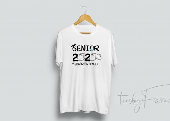 Senior Quratined | #classof2020 | T shirt design for sale
