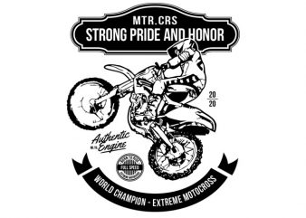 Strong, Pride and Honor t-shirt design for commercial use