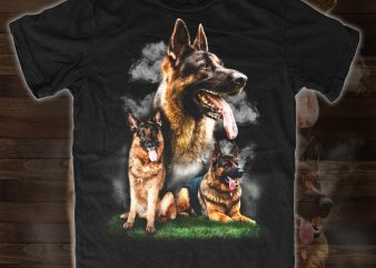German Shepherd – design for t shirt