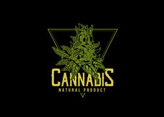 cannabis weed t-shirt design for commercial use