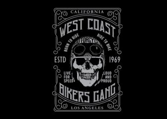 bikers gang t shirt design template